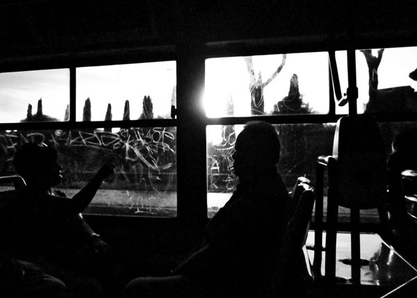 Rome buses Europe public transportation Italy black and white