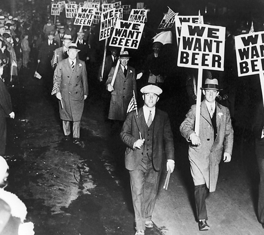 beer signs black and white march protest men suits