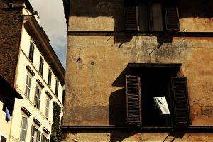shutters, laundry, Rome, apartment