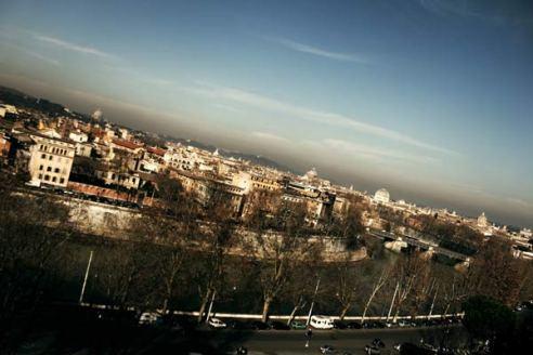 view rome panorama from orange gardens