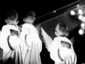 angels black and white chorus singing