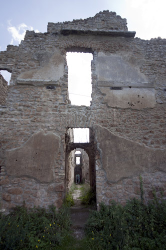 ruins church antica monterano ghost town abandoned lost city