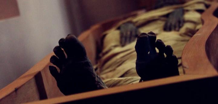 mummy halloween vatican museum mummia coffin feet