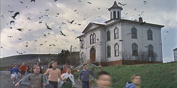 alfred hitchcock the birds school children attack