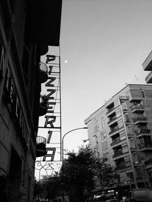 pizzeria pigneto roma black and white