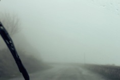 Foggy road to Frattura